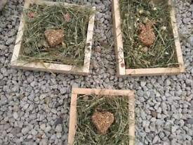 Rabbit and guinea pig forage trays NEW