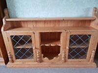 Quality pine glazed dresser unit.