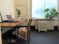 Artist studio / cultural worker desk space in beautiful Victorian building