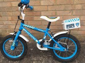 """Apollo police bike for boys size 14"""""""