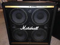 Marshall 4 x 10 Bass cab