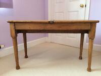 Child's wooden school desk