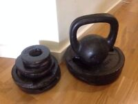 kettle bell set and weight set