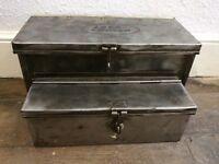 Vintage Land Rover Car Tool Box Tin Case Storage Display