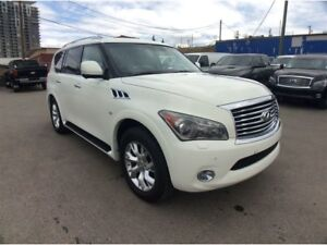 2014 Infiniti QX80 / AWD / 7 PASS. / NAV / B/U CAMERA / LEATHER