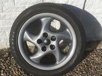 Toyota Subaru 5 x 100 alloy wheels with tyres 17 inch VW SKODA