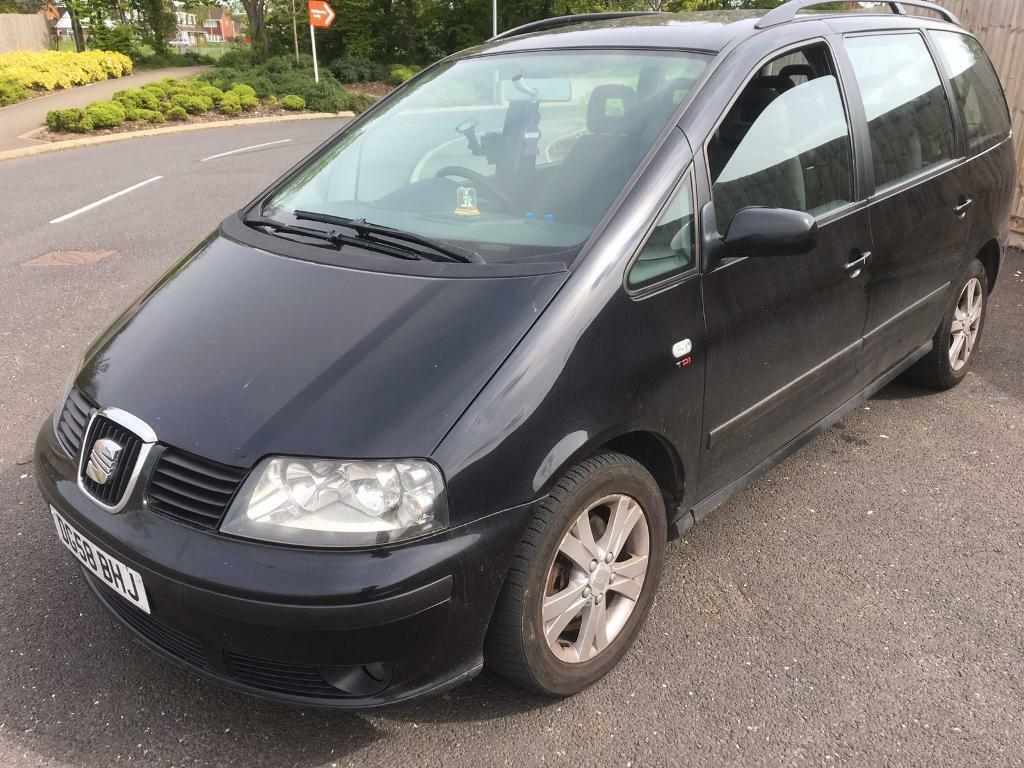 2008 seat alhambra 1 9 tdi diesel 6 speed full service mint car 7 seater no issues not vw sharan. Black Bedroom Furniture Sets. Home Design Ideas