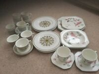 Dinner plates, dishes,cups and saucers