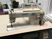 Regularly serviced industrial flatbed sewing machine. Runs beautifully has the computerise stitch