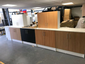 Athina Kitchen Cabinets & Sink Set - 3 Base Units, 1 Sink Unit, 2 Wall Units, 1 Base Unit