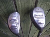 WILSON PRO-STAFF SOLUTION HYBRID 18 Degree and 21 Degree CLUBS. Can Sell separately.