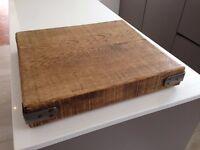 New French oak butcher's block style chopping board