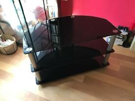 Black glass & chrome tv unit