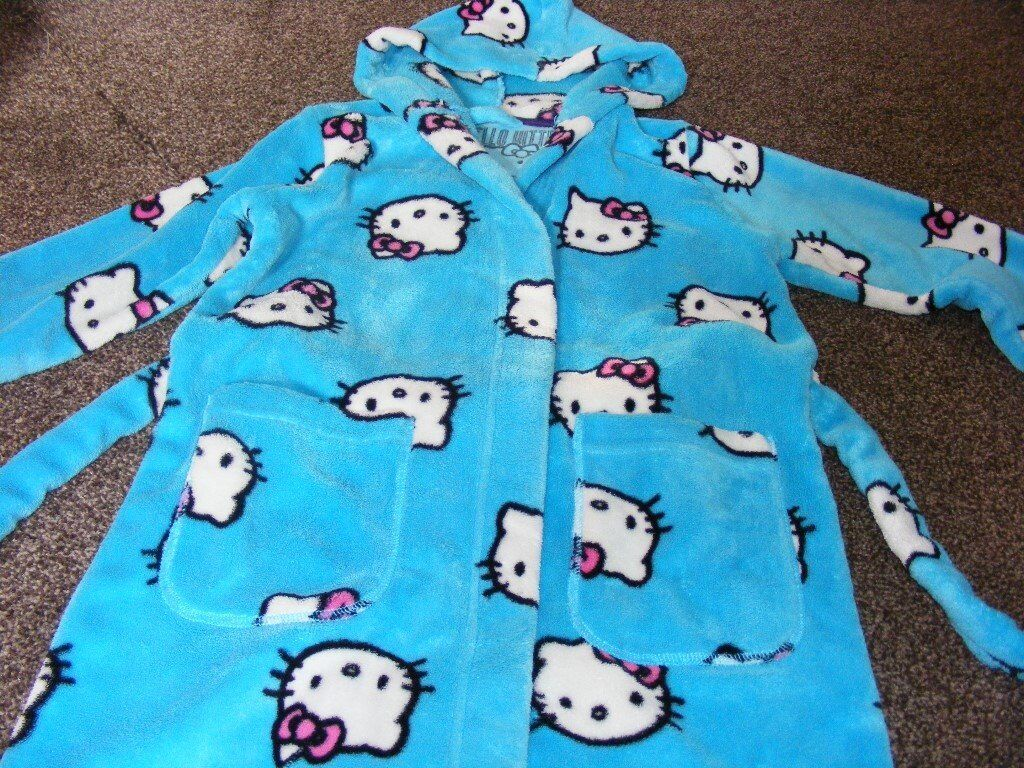 Hello Kitty Dressing Gown M&S Age 7 / 8 Years.