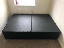 Black Double Divan Bed Base