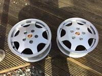 Porsche D90 alloys plus 4x100 adapters
