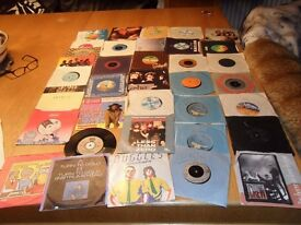 """Job lot of 7"""" vinyl records old collection total 36 records"""