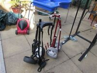TWO GOLF TROLLIES, TITLEIST AND HIPPO, GOOD CONDITION