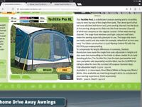 Techlite Pro XL caravan/ camper Van awning