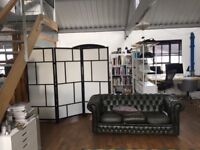 Lovely bright, self contained office space on the top floor of warehouse building in Holloway N19.