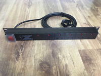 6-Way 1U Rackmount Surge-Protected UK Mains PDU – In great condition