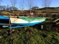 12ft SCUD SAILING DINGHY WITH TRAILER