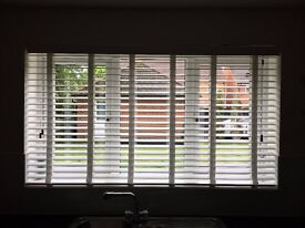 Wooden Venetian Blind with Tapes (W)169.5cm x (H)98cm