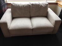 Cream suede couch