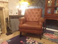 Stunning faux suede brown armchair chair .fireside chair bought from very.collect aberbargoed