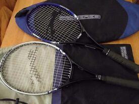 3 tennis racquets