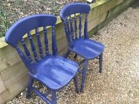 Two spindle back chairs
