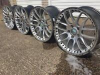 Alloy wheels x4 18x8x2 18x9.5x2 fit vivaro van