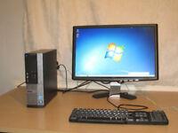 Superfast DELL PC,Core i3-4gb DDR3, HDMI,wifi, win 7, 22 inch widescreen screen. can deliver