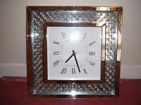 Large crystal mirrored clock