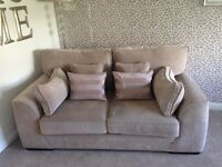 SCS two 2 seater sofas in Sherlock mink fabric. Only 2 years old in imacculate condition.