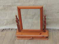Pine mirror freestanding (Delivery)