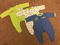 Sleepsuit set x 3 - Tiny baby