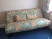 Clic Clac double size sofa bed, with 2 zip-linked sprung mattresses. Used only a handful of times.