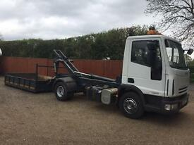 Iveco Eurocargo 75/e16 58 reg roll on roll hook loader Tipper lorry