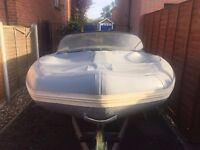 Second Hand Flatacraft GT3 RIB / Sports Boat with Road Trailer