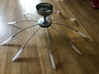 2x ceiling lights, 3x table lamps and 2x floor lights matching for sale