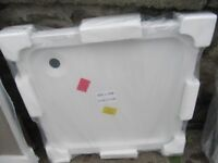 1 x white offset shower tray 800 x 800 new still in wrappers