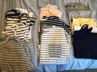 Large bundle of women's tops- sz 14-16. Most hardly been worn. Joules. FCUK and more