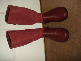 NEW Hotter Burgundy Boots