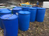 Plastic 45 gallon drums