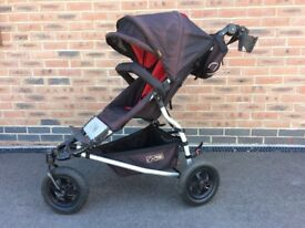 Mountain Buggy With in Chilli Red including Buggy Board & Accessories