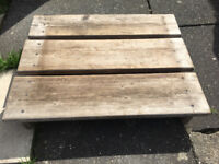 Lovely hand made solid hard wood pallet