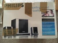 REDUCED £10 Philips PC Speaker System RRP £50 BOXED
