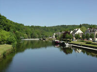 Chic and cosy Riverside self catering acccommodation Brittany near Pontivy France
