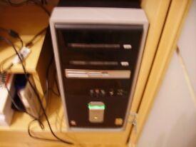 """Compaq Desktop Computer, monitor, wireless mouse, 350g 3"""" external HD & more"""